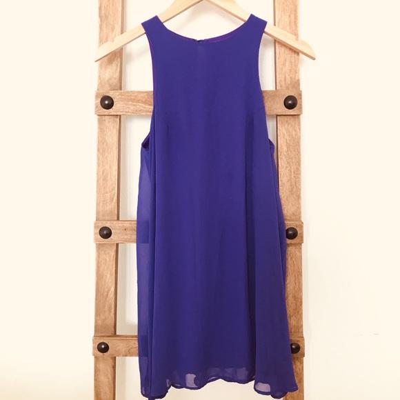 Solemio Dresses & Skirts - Mini purple sleeveless shift dress